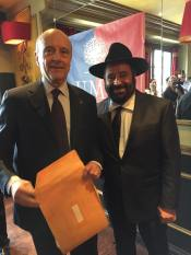 Rav Moryoussef avec Alain Juppé, candidat à la présidentielle de France