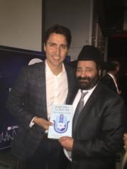Le Rav Moryoussef en présence de Justin Trudeau candidat aux élections fédérales canadiennes.