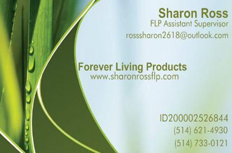 forever living buisness card